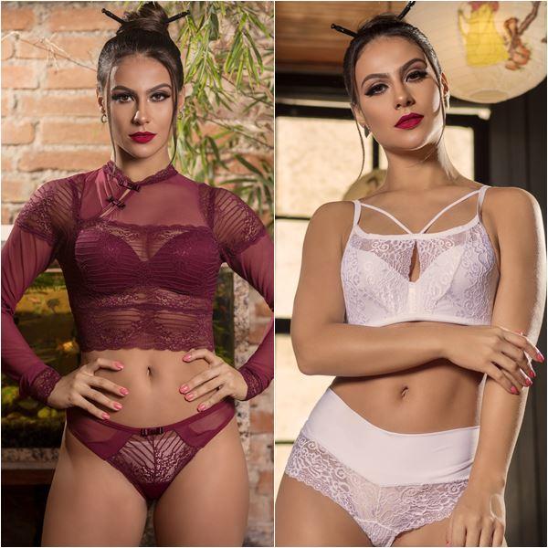 Felinju Juruaia Lanicle Lingerie da Moda Inverno 2018