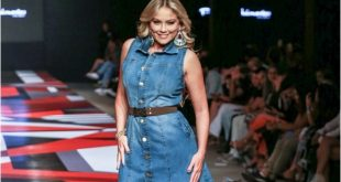 Ellen Rocche desfilou look da Patricia Guimarães Jeans Wear no MMF 2018