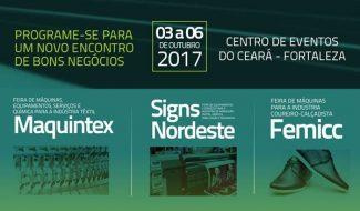FCEM Febratex Group feiras Maquintex Signs Nordeste e Femicc Fortaleza