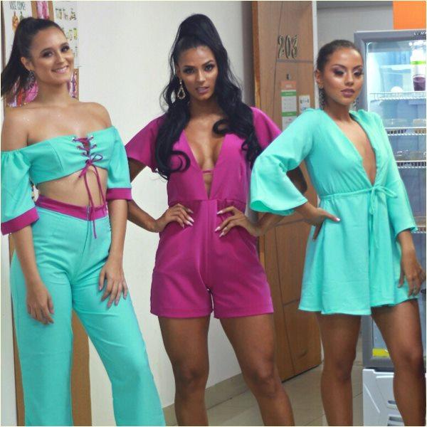 Modelos Paulinha Torezani, Daiana Del Puppo e Lara Freitas no evento Code 121